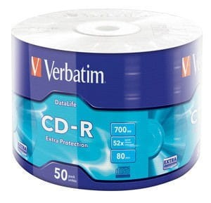 Verbatim CD-R 52x 700MB 50P SP Extra Protection Wrap 43787