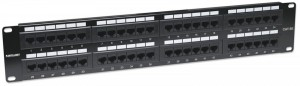 Intellinet Patch panel 19' 48 porty UTP kat.5e czarny