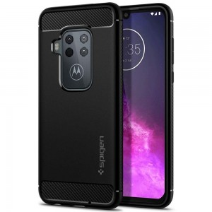 SPIGEN RUGGED ARMOR MOTOROLA ONE ZOOM MATTE BLACK