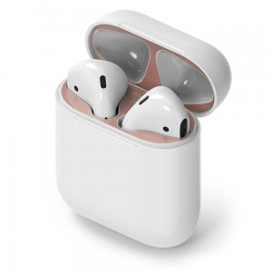 RINGKE DUST GUARD STICKER APPLE AIRPODS ROSE GOLD